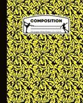 Composition: Ice Skating Yellow and Black Marble Composition Notebook for Girls. Figure Skater Wide Ruled Book 7.5 x 9.25 in, 100 p