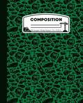 Composition: Horses Green and Black Marble Composition Notebook for Girls or Boys. Horseback Rider Wide Ruled Book 7.5 x 9.25 in, 1