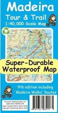 Madeira Tour &; Trail Super-Durable Map