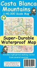 Costa Blanca Mountains Tour &; Trail Super-Durable Map
