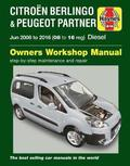 Citroen Berlingo &; Peugeot Partner Diesel (June '08-'16) 08 To 16