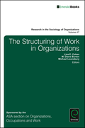 Structuring of Work in Organizations