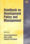 Handbook on Development Policy and Management