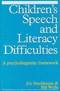 Children's Speech and Literacy Difficulties: Book I