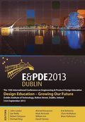 Design Education-Growing our Future, Proceedings of the 15th International Conference on Engineering and Product Design Education (E&;PDE13)
