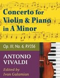 Vivaldi Antonio Concerto in a minor Op 3 No. 6 RV 356. For Violin and Piano. International Music
