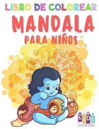 Libro Para Colorear Mandala Para Niños Pequeños Fácil Mandalas