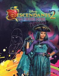Descendants 2: Wickedly Cool Coloring Book for Kids and Teens
