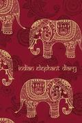 Indian Elephant Diary: 200-Page Blank Bo