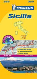 Sicily - Michelin Local Map 365