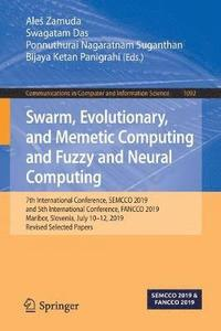 Swarm, Evolutionary, and Memetic Computing and Fuzzy and Neural Computing