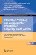 Information Processing and Management of Uncertainty in Knowledge-Based Systems