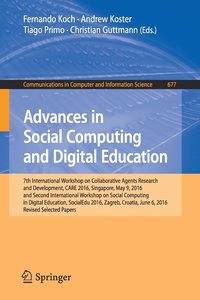Advances in Social Computing and Digital Education