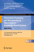 Information Processing and Management of Uncertainty in Knowledge-Based Systems. Applications