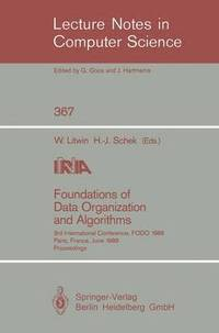 Foundations of Data Organization and Algorithms