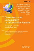 Governance and Sustainability in Information Systems. Managing the Transfer and Diffusion of IT