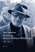 Briefe an Kaspar Niklaus Wildberger 1978-1993