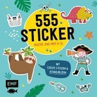 555 Sticker - Faultier, Dino, Pirat und Co.