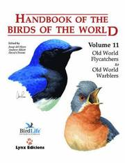Handbook of the Birds of the World: v. 11 Old World Flycatchers to Old World Warblers