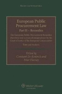 European Public Procurement Law-Part II Remedies