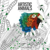 Artistic animals : a colouring book