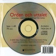Orden och uttalet cd audio
