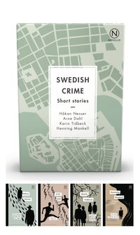 Box with four Swedish Crime Stories