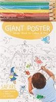 Giant Poster Colouring Book: Safari