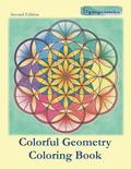 Colorful Geometry Coloring Book: Relaxing Coloring with Colored Outlines