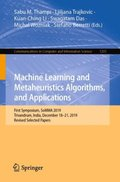 Machine Learning and Metaheuristics Algorithms, and Applications