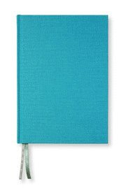 NoteBook textil linjerad turquoise A5
